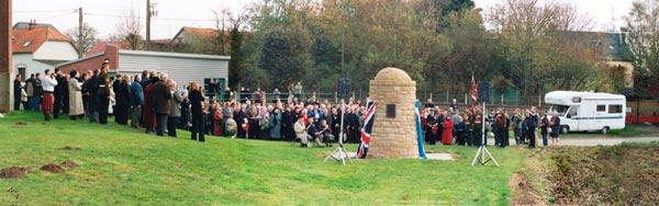 Contalmaison cairn Unveiling ceremony