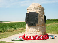 Ceremony at Contalmaison Cairn