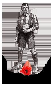 footballer with poppy