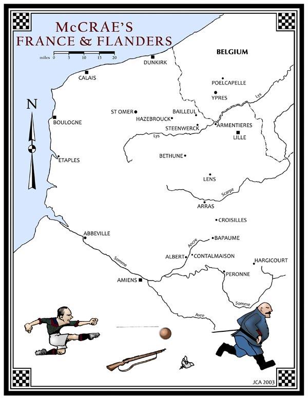 France & Flanders map
