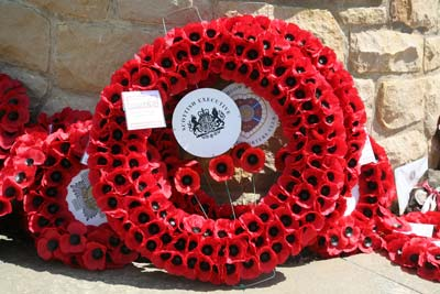 Wreath laid on behalf of the Scottish Executive