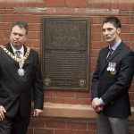 Commemorative plaque unveiled at Tynecastle